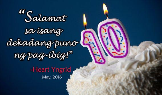 Happy 10th Anniversary, Heart Yngrid!