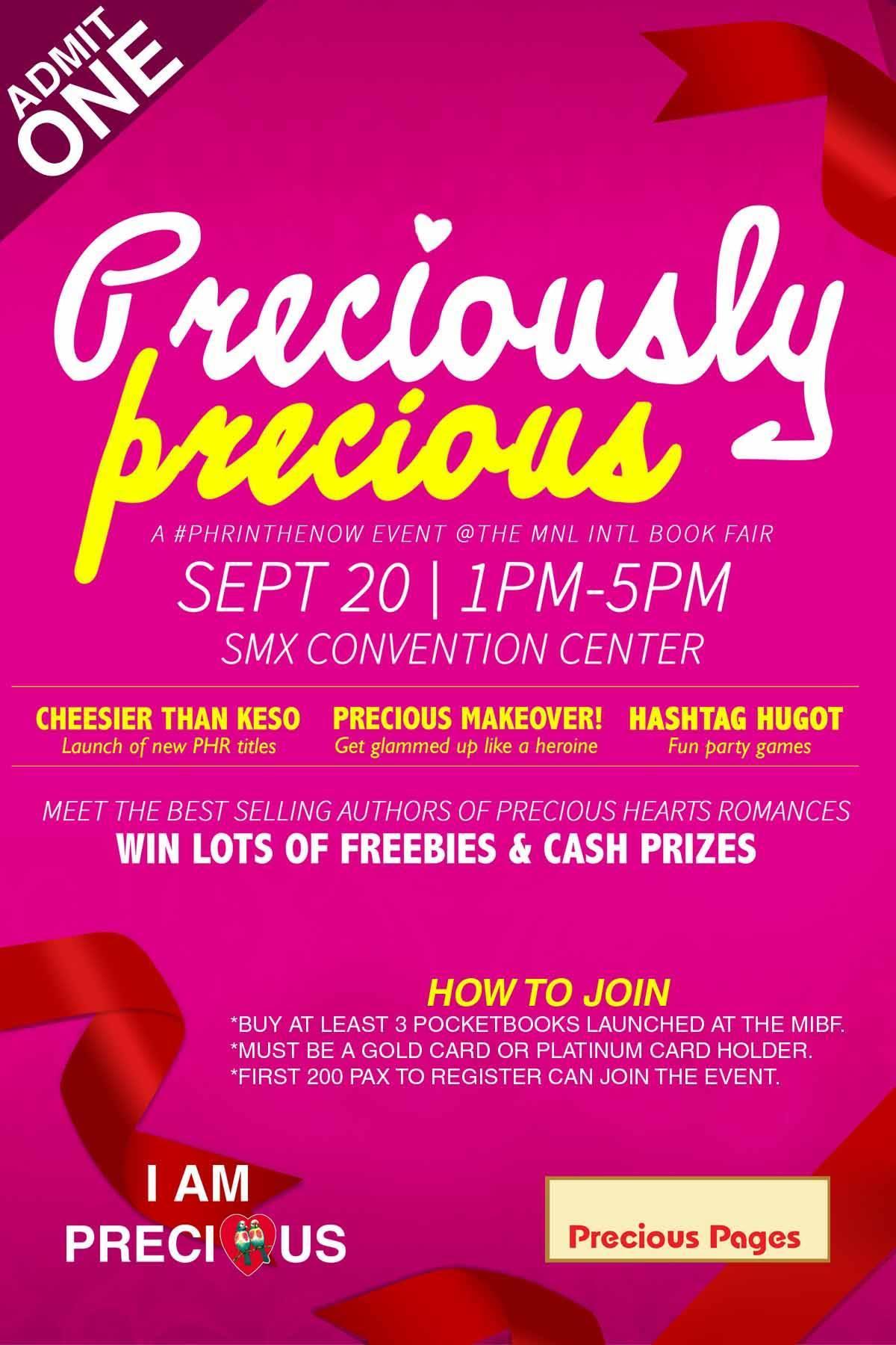Preciously Precious (An MIBF 2015 Event)